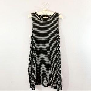 Hayden Los Angeles Black White Striped Swing Dress